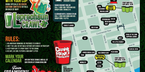 Leprechaun Crawl Treasure Map - 2015